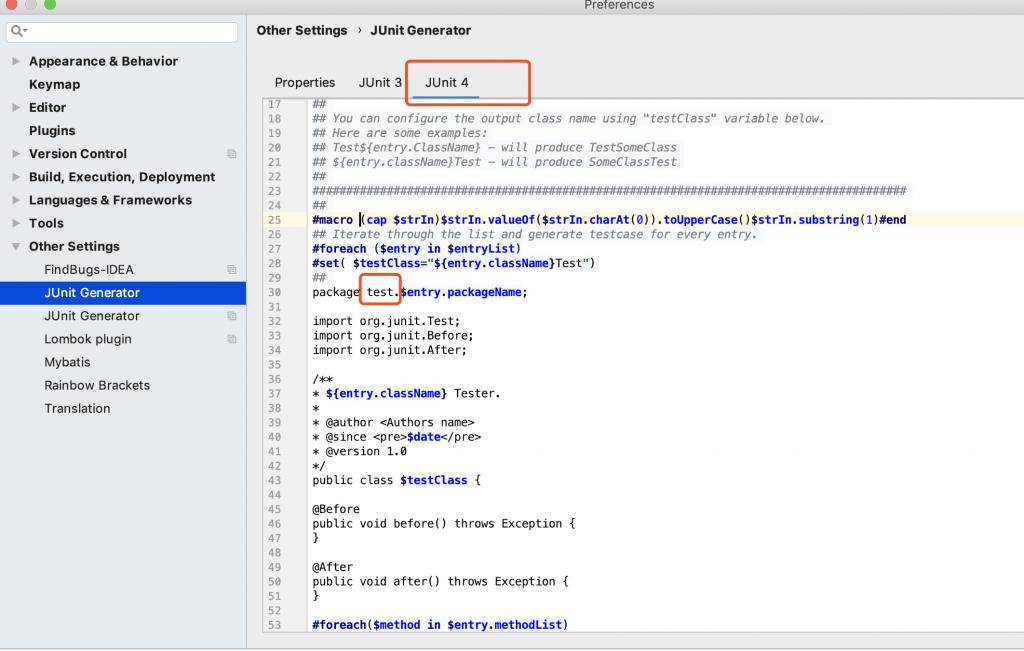 Idea 自动生成Junit单元测试插件JunitGenerator插图2