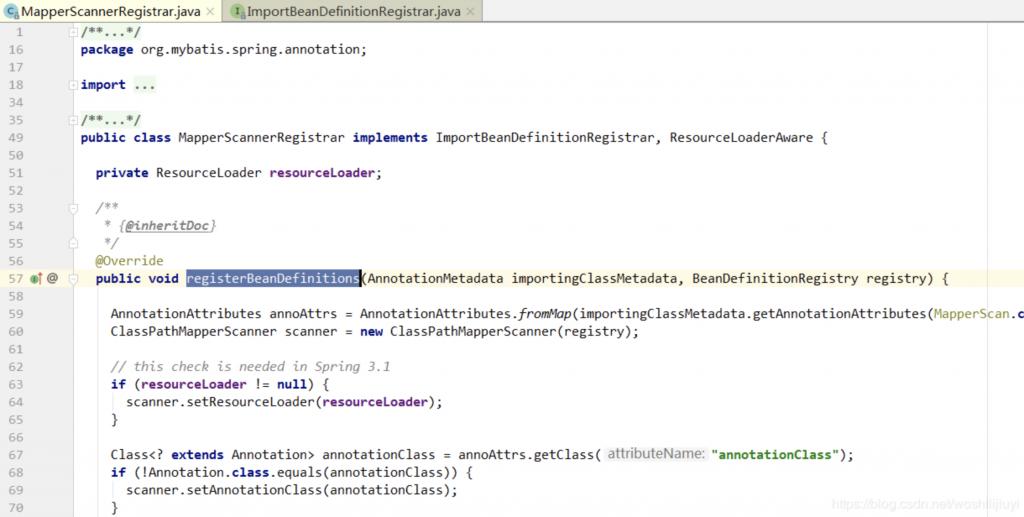SpringBoot BeanDefinition注册核心类ImportBeanDefinitionRegistrar源码分析插图
