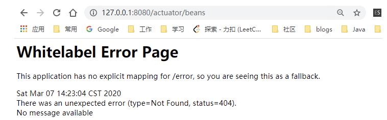 Spring Boot Actuator访问/actuator路径404错误插图
